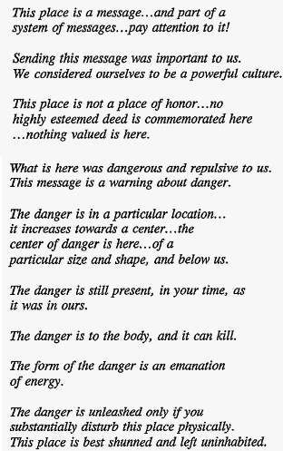 nuclear warning text to future